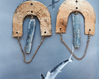 Kyanite waterfall earrings