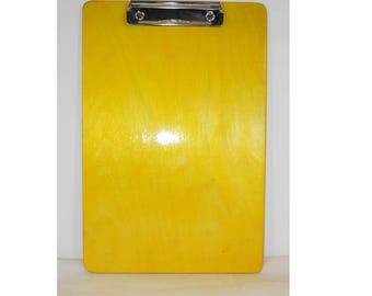 Coach's Clipboard, Yellow, Wooden Clipboard