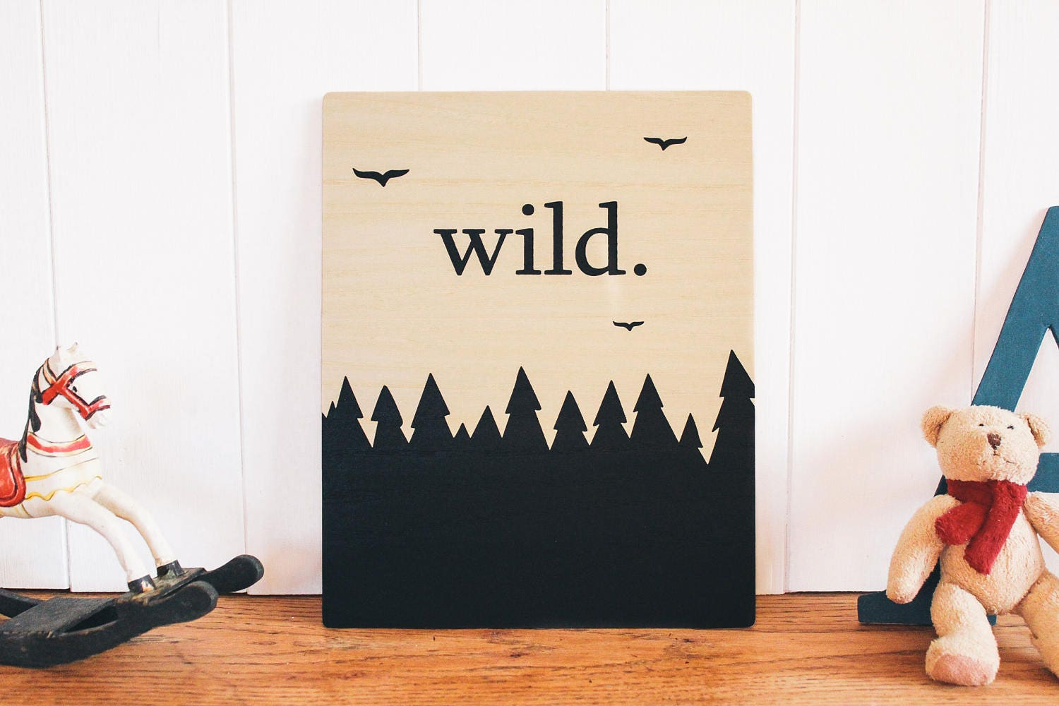 Wild Wooden Wall Art Wall Sign Nursery Decor Kids Room Home Decor