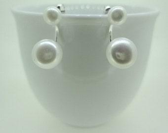 Two Way Freshwater Pearl Sterling Silver Earrings