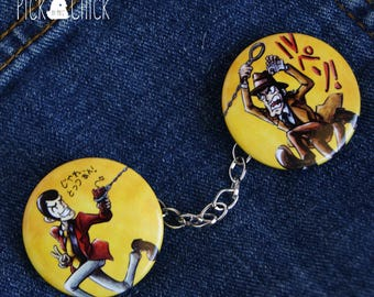 Lupin the third set of 2 pinback buttons