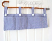 bunk bed tidy navy bed caddy rail organizer cot caddy crib hanger bunk bed pockets 30 x 10 navy and white check