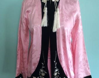 1960s pink and black Japanese loungewear rockabilly style