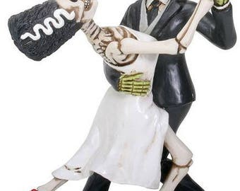 Frankenstein and Bride Dancing - Frankenstein - Monster Love - Bride of Frankenstein - Wedding Cake Topper