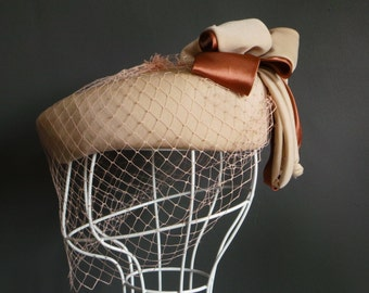Vintage hat - birdcage pillbox hat