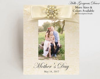Mother's Day Picture Frame Gift for Mother Mom Custom MOTHER'S DAY FRAME Generations Family Photo Frame New Mommy Gift Ideas Expecting Mom