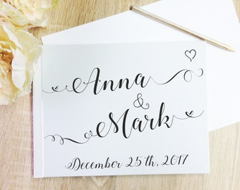 Wedding  Guest Book Guestbook Names Custom Personalized Guest Book Custom Modern  Wedding Guestbook