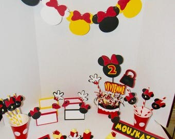 Minnie Mouse Clubhouse Birthday. Minnie Mouse Party Decorations, Minnie Mouse Table Decorations. Minnie Mouse Birthday. Minnie Birthday