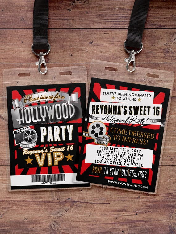 hollywood birthday sweet 16 vip pass backstage pass vip. Black Bedroom Furniture Sets. Home Design Ideas