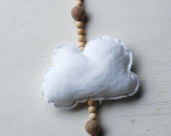 Linen cloud garland