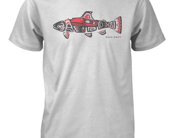 PNW Trout Fly Fishing Tee,Pacific North West,Trout,Fly,Fishing Tee,Fly Fishing Gifts,Fishing Shirt,T-Shirt,Fishing Art,Fish,Fishing T-Shirt