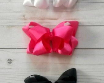 large double stack boutiqe bow pack. girls 6 inch bow.