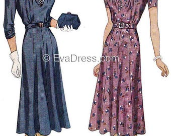 1939 Dress E-PATTERN by EvaDress!