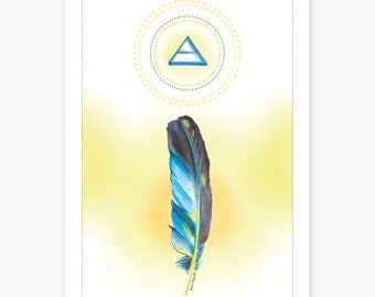 Element Art Print | A4 Print | Art Print | Symbol Art | Air Sign | Element Symbol | Feather | Birthday Gift | Unique Gift | Art | Wall Decor