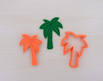 Palm Tree Cookie Cutter and Stamp Set