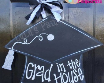 Graduation Cap Door Hanger-Graduate-Graduation Sign-Wood Sign-College Grad-Highschool Grad-Door Decor-Graduation Party