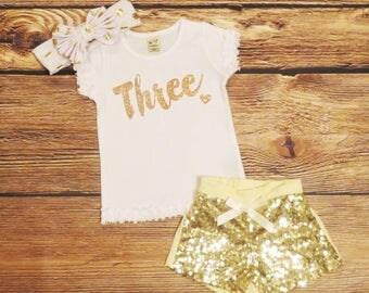 Girls Third Birthday Shirt Third Birthday Girl Shirt 3rd Birthday Shirt Girl Three Year Old Girl Birthday Shirts 3 Years Old Birthday Girl