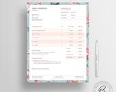 Invoice Template 02 - Photography Invoice - Receipt Template - Invoice Template for Microsoft Word - Business Invoice