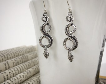 Sterling Silver Slithering Snake Earrings