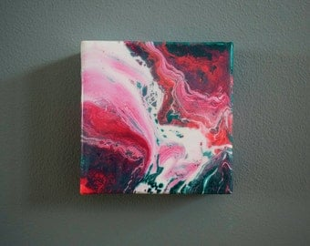 Abstract Deep Edge Canvas No.01 | Resin Finish