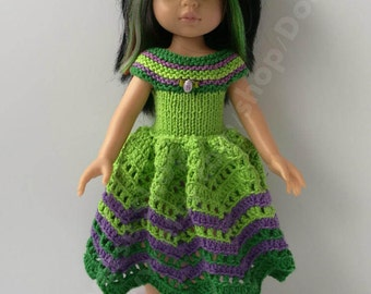 Hand Knitted and crochet OUTFIT  for Paola Reina and Corolle Les Cheries 13,14 dolls