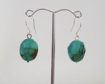 Classic turquoise drop earrings
