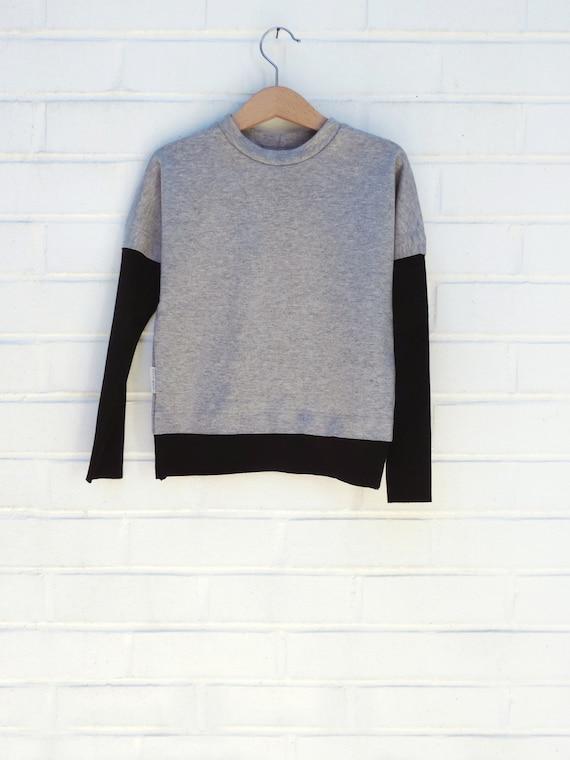 Grey Sweatshirt, Boys Girls Organic  Sweatshirt, Kids And Baby Sweatshirt, Hipster Toddlers Sweatshirt - By PetitWild