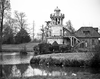 Versailles Print - Versailles Black and White Print, Versaille Mill Print, BLack and White Print - Paris Photography Print