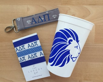 Alpha Delta Pi Bid Day Bag; ADPi Gift Bag; Alpha Delta Pi Accessories; ΑΔΠ Sorority Bid Day; APi Big Little; ADPi Cup, Hair Ties, Key Chain
