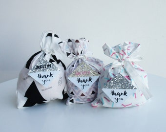 10 Party Favour Bags. Personalized Party Favour Bags