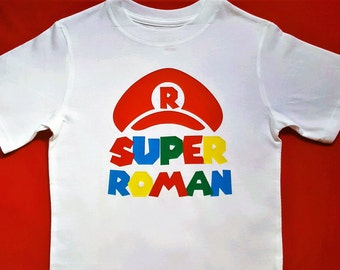Super Mario Shirt || Personalized Super Mario Inspired Shirt || boys gamer inspired shirt personlized Super Mario shirt