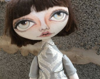 Handmade cloth doll ooak Gigi