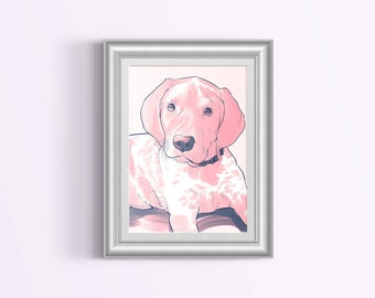 Custom Dog Portrait - Pop Art Style