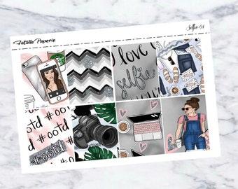 Selfie Weekly Kit /Planner Stickers