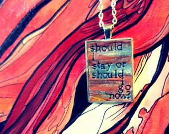 The Clash Should I Stay or Should I Go Pendant Necklace