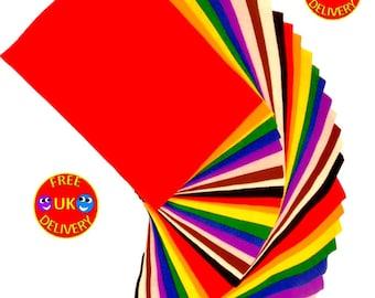 Crafts Felt Sheets, A4, Assorted Colours 30pcs