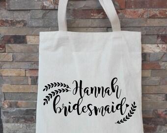 tote bags bridesmaid, tote bags weddings, bridesmaid tote bag, laurel leaf monogram, best seller, custom bride tote, tote for bridesmaids
