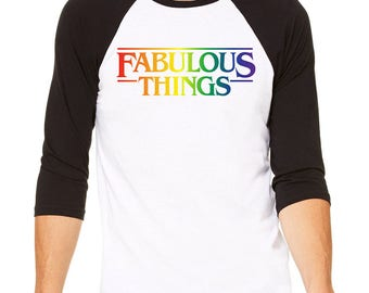 Fabulous Things Baseball Shirt, Gay Pride Shirt, Pride Week Shirt for Men, Gay Pride T-Shirt, Gay Pride Tee, Gay T-Shirt, LGBT Shirt