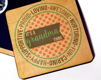 It's A Grandma Thing Wood Magnet, Proud Grandma Refrigerator Magnet