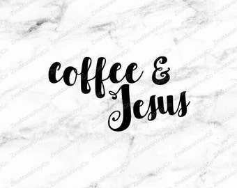 Coffee and Jesus Decal - Coffee and Jesus Car Decal