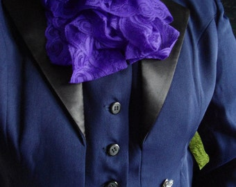 Purple lace jabot