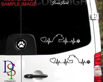 IRISH WOLFHOUND Sight Hound Deerhound Dog Car Sticker Pet Decal