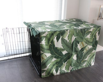 Palm Print Crate Cover- Made to Order
