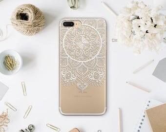 iPhone 7 Case Phone 7 Plus iPhone Mandala Case Clear 6 iPhone Case for Samsung S8 Case Phone SE Plus Case iPhone 6 Plus iPhone X case WA1011