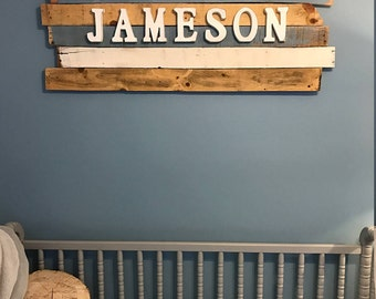 Nursery name sign, wood wall decor, name wall art, nursery name sign, nursery decor, above the crib