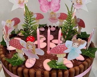 Fairy Woodland Cake Decoration