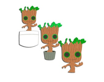 Groot Embroidery design - Machine embroidery design