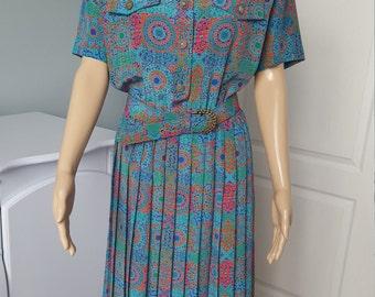 Vintage Womens Dress Leslie Fay Dress Size 8 Medium