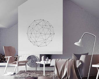 Geometric Ball Minimal Wall Sticker Decal Vinyl Interior Design Stylish
