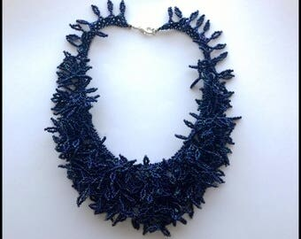Blue Choker necklace-Selva